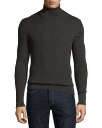 Tom Ford Merino Silk Ribbed Turtleneck