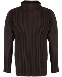 Homme Plissé Issey Miyake Pliss Effect Funnel Neck Top
