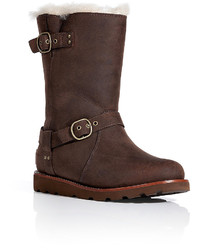 ... UGG Australia Leather Noira Boots In Brownstone