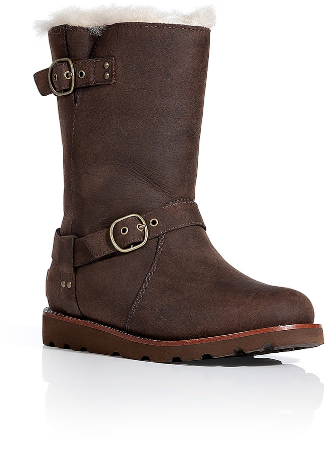 726350deddc $395, UGG Australia Leather Noira Boots In Brownstone