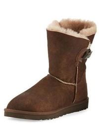 Nash aviator shearling fur boot chocolate medium 826420