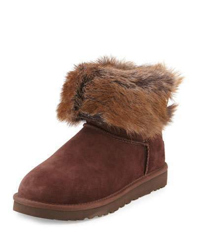 7a3bb9df9c1 $126, UGG Valentina Shearling Fur Ankle Boot Demitasse