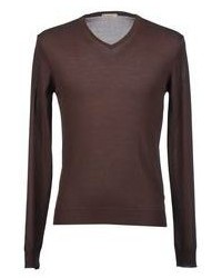 How to Wear a Dark Brown V-neck Sweater For Men (25 looks   outfits ... 5e0ed27fb