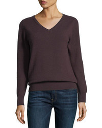 Dark Brown V-neck Sweaters for Women | Women's Fashion