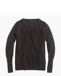 Women s Dark Brown V-neck Sweaters by J.Crew  ae04e32a30