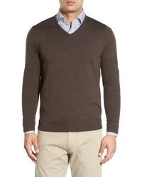John W Nordstrom Merino Wool V Neck Sweater