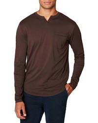 Good Man Brand Victory V Notch Long Sleeve Pocket T Shirt