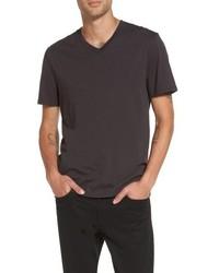 Dark Brown V-neck T-shirt
