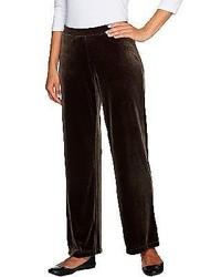 Susan graver velvet pull on regular pants medium 124805