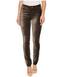 Paige Hoxton Velvet Skinny In Deep Juniper Jeans