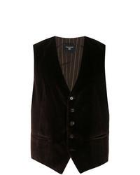 Dark Brown Velvet Waistcoat
