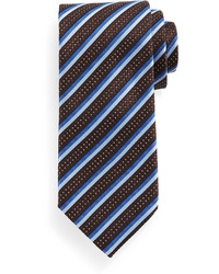 Textured stripe silk tie medium 356430