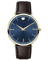 40mm yellow gold ultra slim watch brown medium 949533
