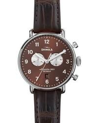 43mm canfield chronograph watch bourbon brown medium 3678460