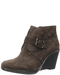 Dark brown wedge ankle boots original 9442135
