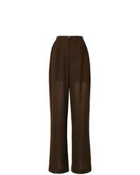 Chanel Vintage Semi Sheer Wide Leg Trousers