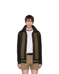 Fendi Brown Knit Forever Track Jacket