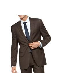 Alfani Jacket Dkbrown Wool Blend Blazer 44r