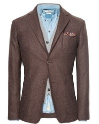 Mango Outlet Herringbone Wool Blend Blazer