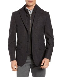 FLYNT Regular Fit Hybrid Wool Blend Sport Coat With Bib