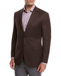 Brioni Solid Wool Sport Coat Rust Brown