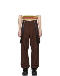 Dark Brown Wool Cargo Pants