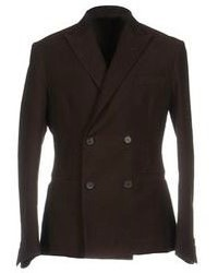 Dark Brown Wool Double Breasted Blazer