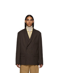 Lemaire Brown Double Breasted Blazer