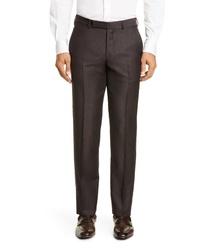 Ermenegildo Zegna Achilfarm Solid Wool Blend Dress Pants