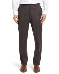 Berle Classic Fit Solid Wool Dress Pants