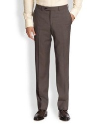Saks Fifth Avenue Collection Wool Micro Check Trousers