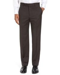 Zanella Devon Solid Wool Serge Trousers
