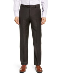 Zanella Todd Relaxed Fit Solid Wool Dress Pants