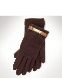 Dark Brown Wool Gloves