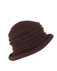 Dorfman pacific scala wool cloche hat by brown one size medium 344641