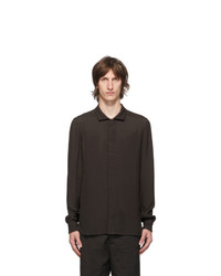 Rick Owens Brown Office Shirt