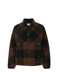 Dark Brown Wool Shirt Jacket