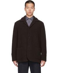 Harris Wharf London Brown Wool Boucl Coat