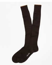Brooks Brothers Merino Wool Golden Fleece Sized Over The Calf Socks