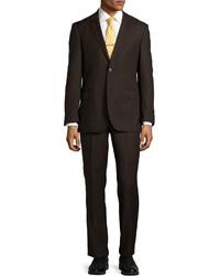Dark Brown Wool Suit