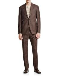 Eidos Chocolate Brown Slim Fit Suit 100% Bloomingdales