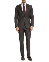 e5e43bfe7435 ... BOSS Huge Genius Micro Textured Slim Fit Two Piece Suit Brown