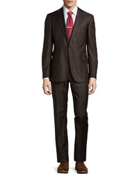 Robert Graham Modern Fit Mintlaw Two Piece Plaid Suit Brown