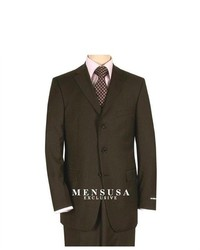 suitUSA S150 Wool 3 Button Brown Italian Suit