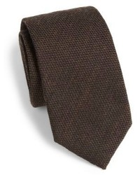 Saks Fifth Avenue Collection Wool Silk Herringbone Tie
