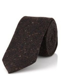 Hugo Boss T Tie 6 Cm Slim Italian Wool Tweed Tie One Size Brown