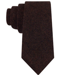 Black Brown 1826 Wool Blend Tie