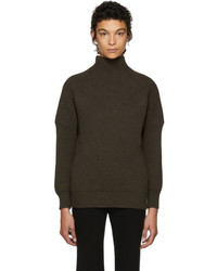 Victoria Beckham Brown Gauge Change Turtleneck