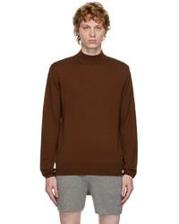 Dries Van Noten Brown Mock Neck Sweater