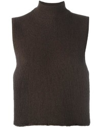 EACH X OTHER Turtleneck Ribbed Open Top